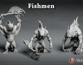 3D printable model Fishmen - DnD Characters - 3 Poses