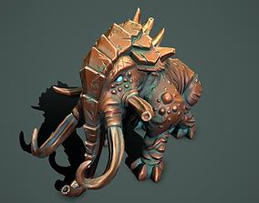 Statue mammoth 3D model