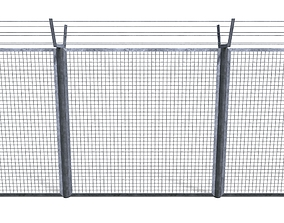 Low Poly Modular Fence 7 3D model