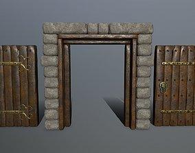 3D model game-ready door 1