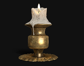 3D model Antique Candle Stand - PBR