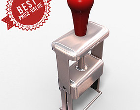 Rubber Stamp square 3D