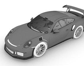 hobby-diy Porsche GT3 RS car model for 3d printing