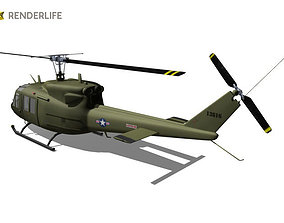 Huey Bell UH-1 helicopter 3D