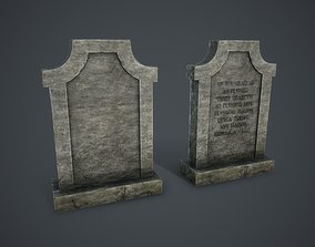 headstone 3D asset VR / AR ready Tombstone