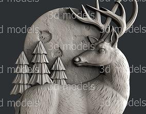 3d STL models for CNC router or 3dprinter deer