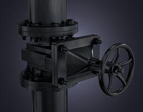 3D model The industrial faucet