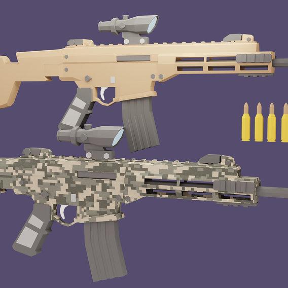 Low poly Remington ACR