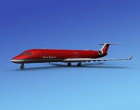 3D Bombardier CRJ700 Sierra Express