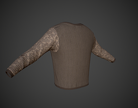 3D asset Military Sweater