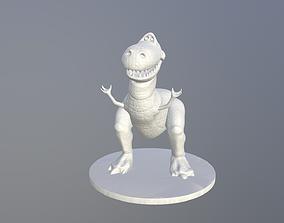 Rex print ready for FDM or SLA 3D printable model