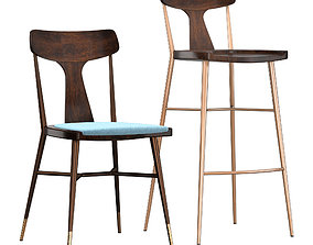 Naika 2 Chair 3D model