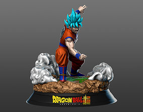 Son Goku Super Saiyan Blue 3D print model