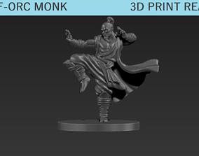 3D printable model Half Orc Monk Mini