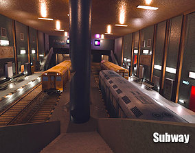 3D model VR / AR ready Subway