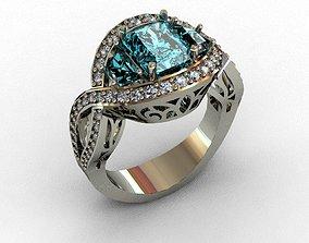 Diamond Ring 3D print model 3D print model brilliant