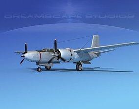 3D Douglas B-26B Invader Bare Metal