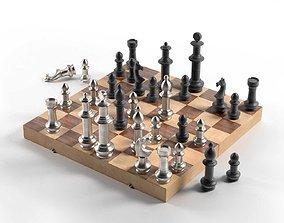 various-models Giant Vintage Aluminum Chess 3D model