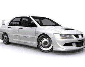 3D asset Mitsubishi Lancer Evolution VIII RS