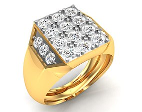 jewelry Men groom solitaire ring 3dm render detail