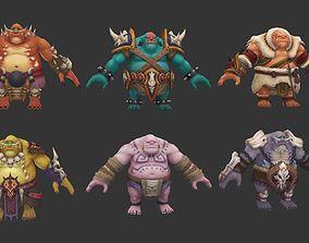 3D asset fat troll family