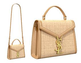 YSL Saint Laurent Cassandra Mini Top Bag Woven 3D model 1