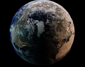 EARTH with NASA TEXTURES 3D asset