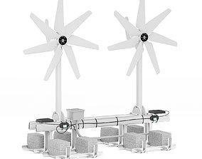 Small Wind Turbine 3D Model wind