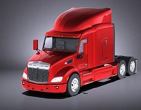 3D model Peterbilt 579 semi truck 2017 VRAY