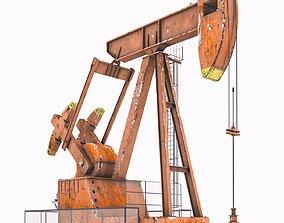 Oil Pump jack 3D model rigged