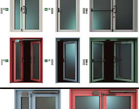 3D model Metal fire doors