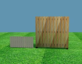 Low Poly Fence Pack 3D asset