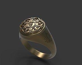 3D print model Mantra Lotus Flower Ring