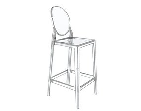 stool 3D Kartell One More Chair