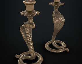 Candlestick with a cobra 3D model