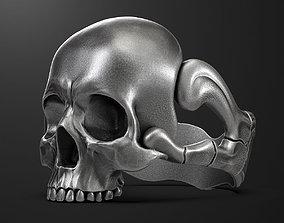 jewellery 3D print model skull ring