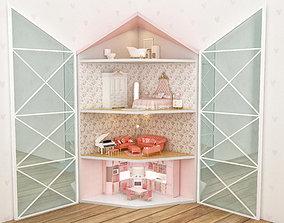 corner dollhouse 3D model