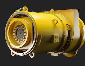 3D model Electric Alternator - Alternador Electrico
