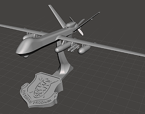 MQ-9 Reaper Drone Model with 6 stands and reconfigurable