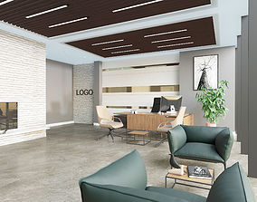 3D Office Interior Scene 02