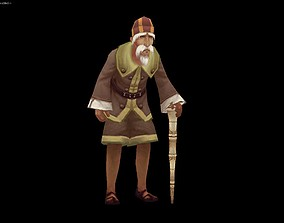 Old man 3D model animated