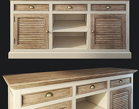 Sideboard Secret De Maison Riviera antique white 3D