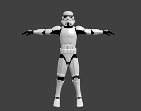 Stormtrooper - Video Game Animation rigged