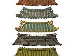 3D model Asian Modular Roof Set