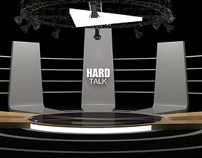 Talk show virtual set- Hard talk 3D