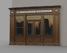 3D model French shop
