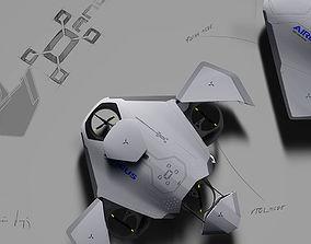 3D model ANDROMEDA AIRBUS DRONE