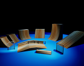 3D model Skate Park Props