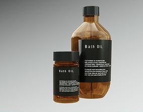 Bath Oil Bottles 3D asset
