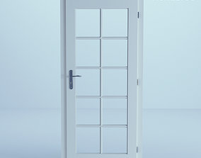 minimalist White Door 40 3D